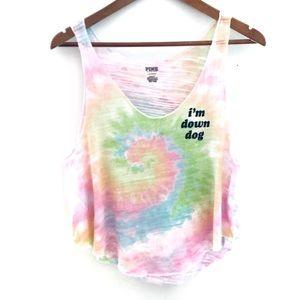 Victoria's Secret PINK Down Dog Tie Dye Tank